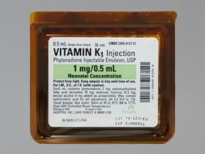 VITAMIN K-1 1 MG/0.5 ML AMPUL