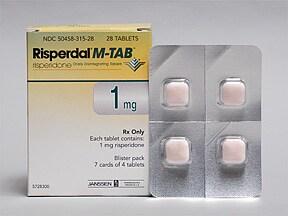 RISPERDAL M-TAB 1 MG ODT
