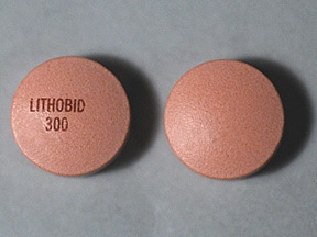 LITHOBID ER 300 MG TABLET