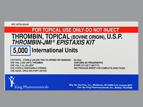 THROMBIN-JMI 5,000 UNITS EPIST