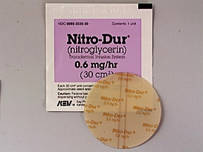 NITRO-DUR 0.6 MG/HR PATCH