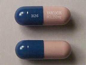 VANCOCIN HCL 250 MG CAPSULE