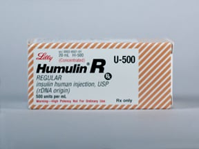 HUMULIN R 500 UNITS/ML VIAL