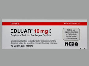 EDLUAR 10 MG SL TABLET