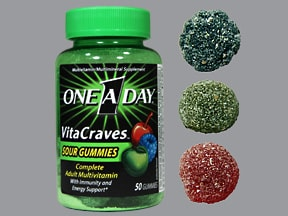 ONE-A-DAY VITACRAVES SOUR GUM