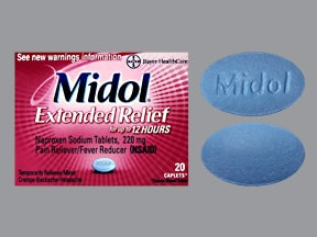 MIDOL 220 MG CAPLET