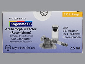 KOGENATE FS 250 UNIT VIAL