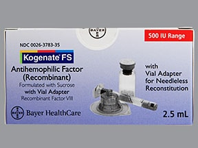 KOGENATE FS 500 UNIT VIAL