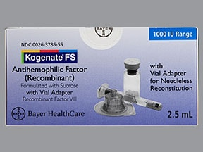 KOGENATE FS 1,000 UNITS VIAL