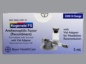 KOGENATE FS 3,000 UNITS VIAL