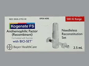 KOGENATE FS 500 UNIT VL-BIOSET