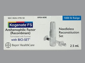 KOGENATE FS 1,000 UNIT-BIOSET