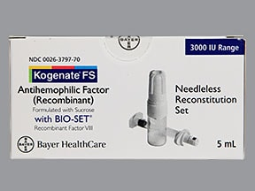 KOGENATE FS 3,000 UNIT-BIOSET