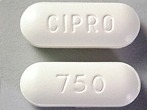 CIPRO 750 MG TABLET