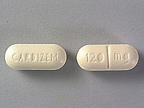 CARDIZEM 120 MG TABLET