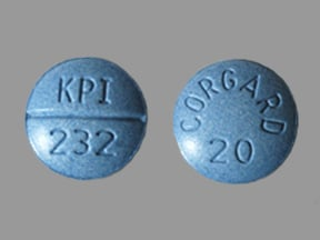 CORGARD 20 MG TABLET