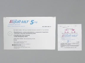 MAXALT MLT 5 MG TABLET