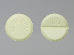 CLOZARIL 100 MG TABLET