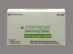 ZORTRESS 0.75 MG TABLET