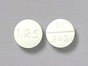 GLYBURIDE 1.25 MG TABLET