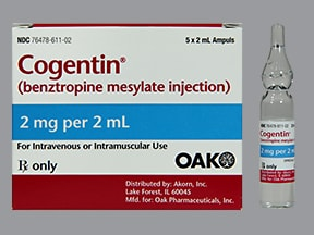 COGENTIN 2 MG/2 ML AMPULE
