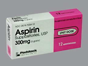 ASPIRIN 300 MG SUPPOSITORY