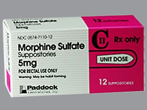 MORPHINE SULF 5 MG SUPPOS