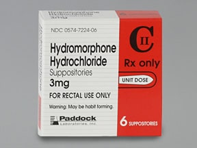 HYDROMORPHONE 3 MG SUPPOS