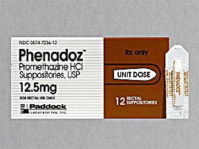 PHENADOZ 12.5 MG SUPPOSITORY