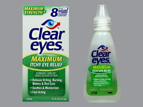 CLEAR EYES ITCHY EYE RLF DROPS