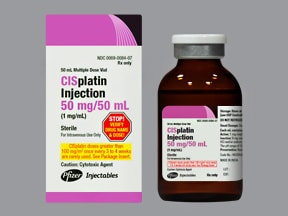 CISPLATIN 50 MG/50 ML VIAL