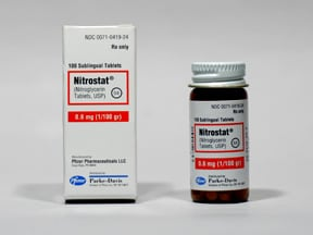 NITROSTAT 0.6 MG TABLET SL