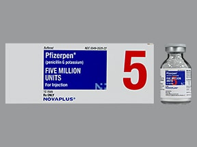 PFIZERPEN 5 MILLION UNITS VIAL