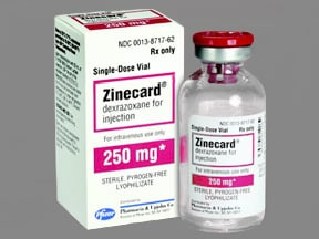 ZINECARD 250 MG VIAL