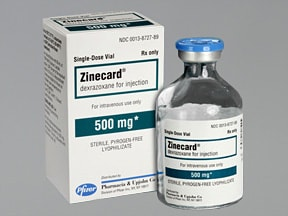 ZINECARD 500 MG VIAL