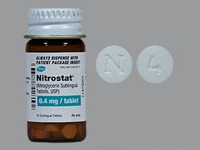 NITROSTAT 0.4 MG TABLET SL
