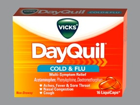 Side effects of cold and flu tablets