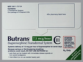 BUTRANS 7.5 MCG/HR PATCH