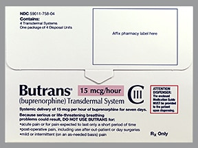 BUTRANS 15 MCG/HR PATCH