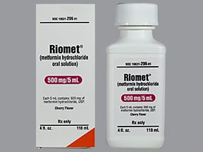 RIOMET 500 MG/5 ML SOLUTION