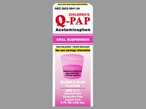 CHILDREN'S Q-PAP 160 MG/5 ML