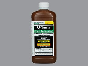 Q-TUSSIN 100 MG/5 ML SOLUTION