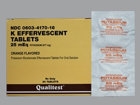 K EFFERVESCENT 25 MEQ TABLET