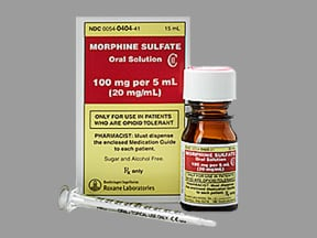 MORPHINE SULF 100 MG/5 ML SOLN