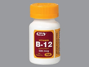 VITAMIN B12 500 MCG TABLET
