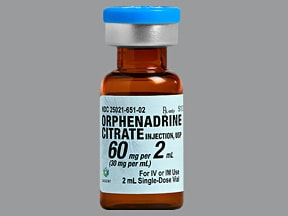 ORPHENADRINE 60 MG/2 ML VIAL