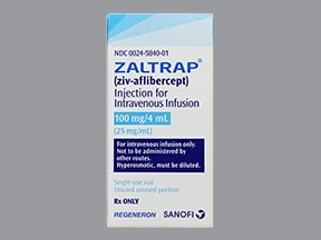 ZALTRAP 100 MG/4 ML VIAL