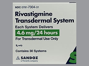 RIVASTIGMINE 4.6 MG/24HR PATCH
