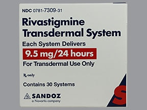 RIVASTIGMINE 9.5 MG/24HR PATCH