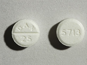 AMOXAPINE 25 MG TABLET